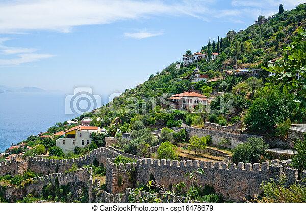 Mediterranean Turkish houses - csp16478679