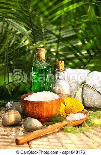 bagno, essenziale, sali, olii - csp1648176