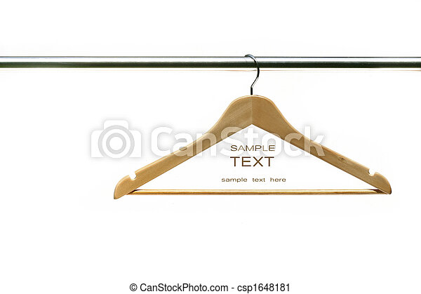 Coat hanger on clothes a rail - csp1648181