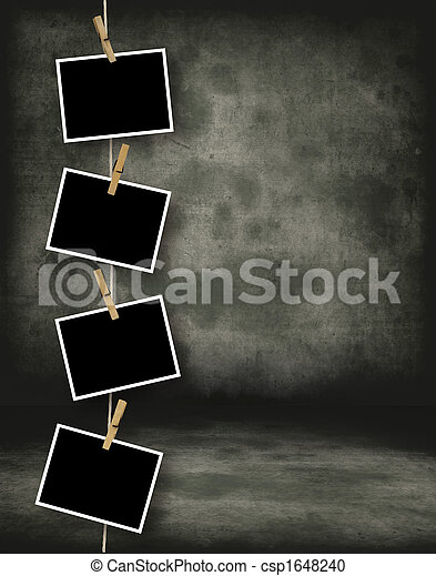 Stock photography of historical photo template old for Template for hanging pictures