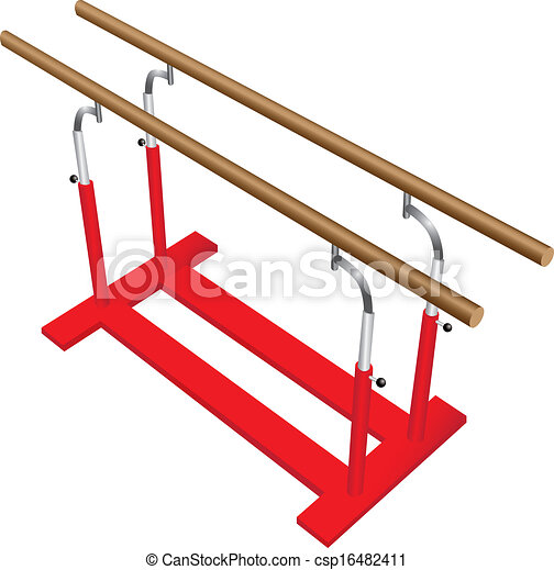 Gymnastics Clipart Parallel Bars Gymnastic Parallel Bars