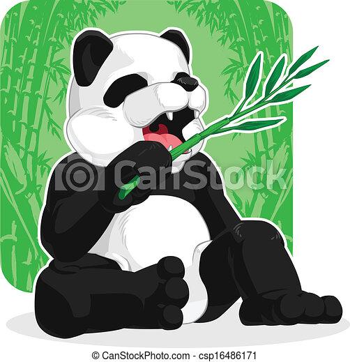 Panda Eating Bamboo Leaves