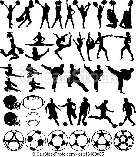 Sport silhouettes - csp16488085