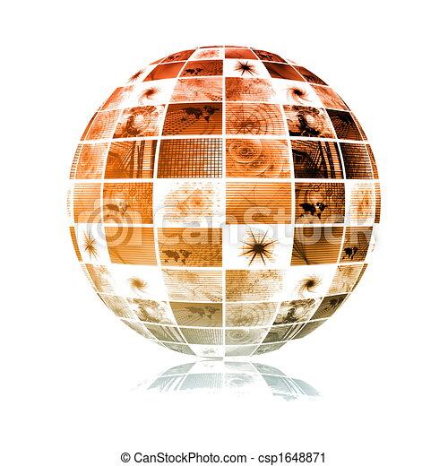 Global Media Technology World Sphere - csp1648871