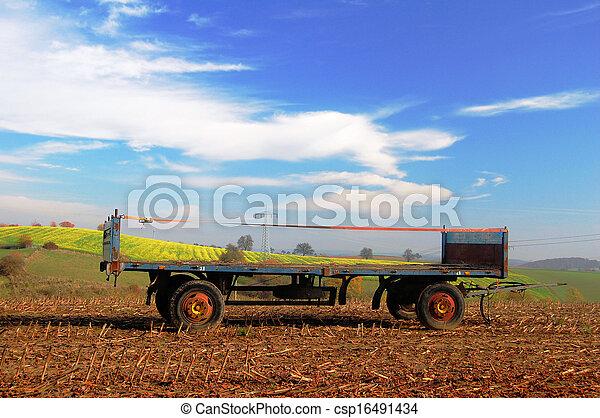 Agriculture trailer - csp16491434