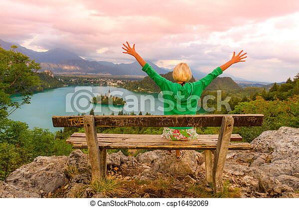 Lake Bled in Julian Alps, Slovenia. - csp16492069