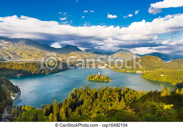 Lake Bled in Julian Alps, Slovenia. - csp16492104