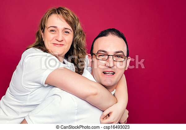 Young Adult Couple Smiling - csp16493023