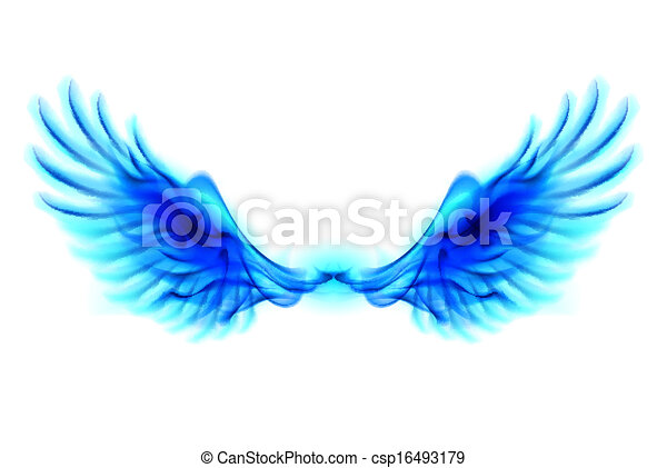 Blue fire wings - csp16493179
