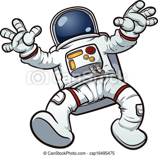 Astronaut clip art. Vector cartoon illustration with simple gradients ...: www.canstockphoto.com/cartoon-astronaut-16495475.html