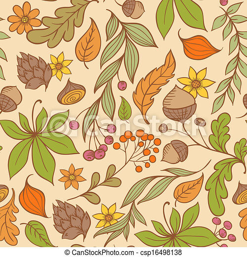 Autumn seamless pattern - csp16498138