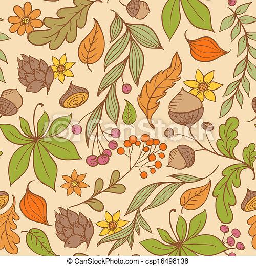 Autumn seamless pattern - csp16498138