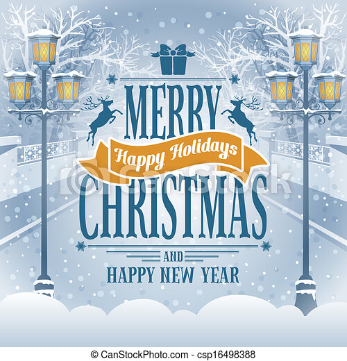 Christmas greeting card - csp16498388