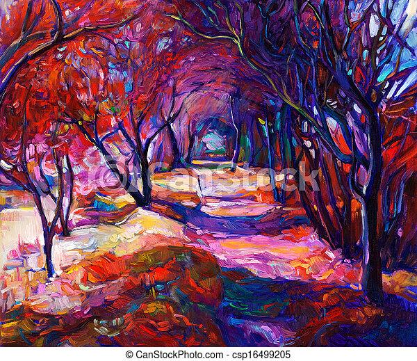 caminho, floresta - csp16499205