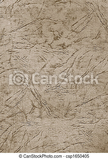 Leaf of an old cardboard with a relief pattern - csp1650405
