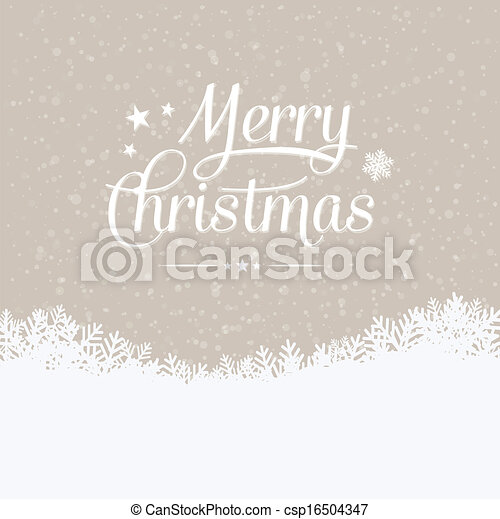 merry christmas winter snowy background - csp16504347