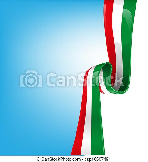 sky background with flag italian  - csp16507491