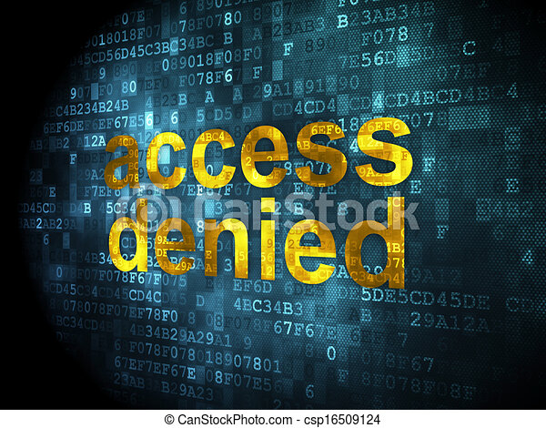 Clip Art of Safety concept: Access Denied on digital background ...