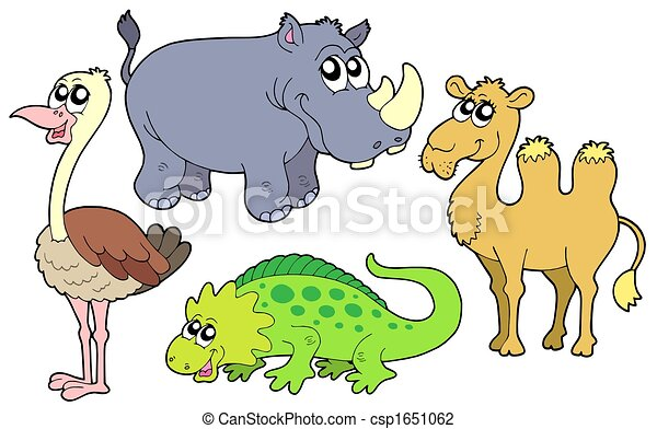 Zoo animals collection - csp1651062