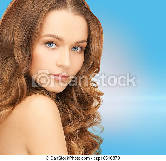 beautiful woman with long hair - csp16510870