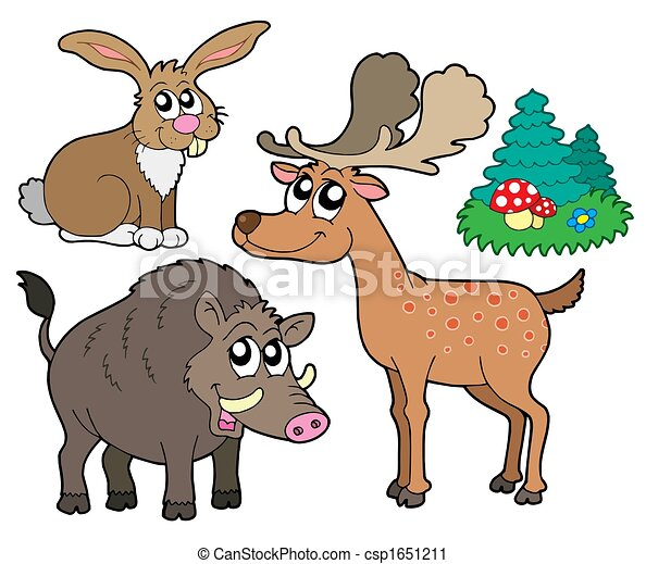 Forest animals collection 1 - csp1651211