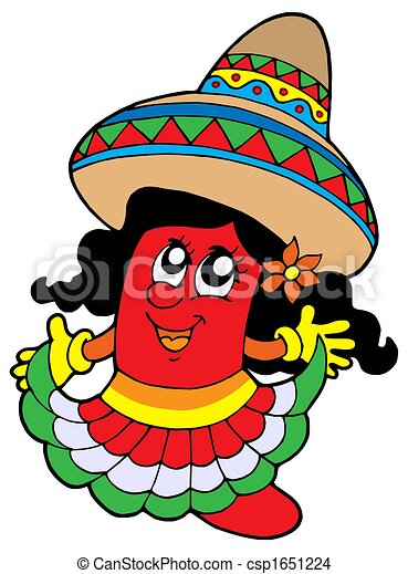 Cute Mexican chilli girl - csp1651224