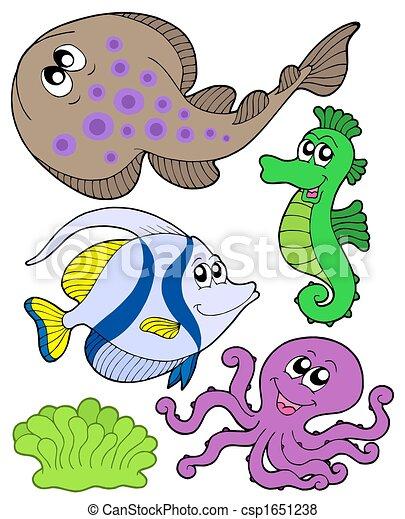 Cute marine animals collection 3 - csp1651238