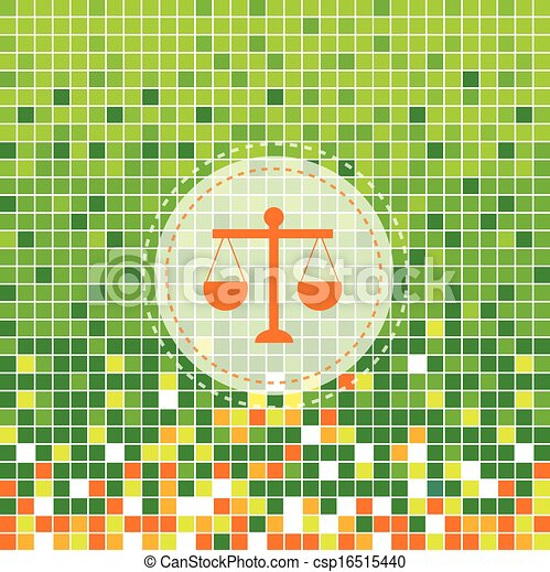 Vector - scales of justice symbol - stock illustration, royalty free ...