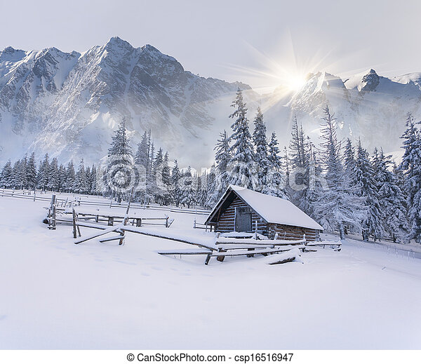 Old farm in the mountains. - csp16516947