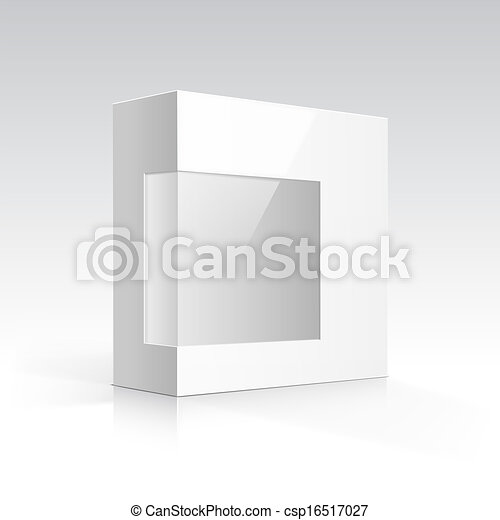 Vector Blank Box with Transparent Window - csp16517027