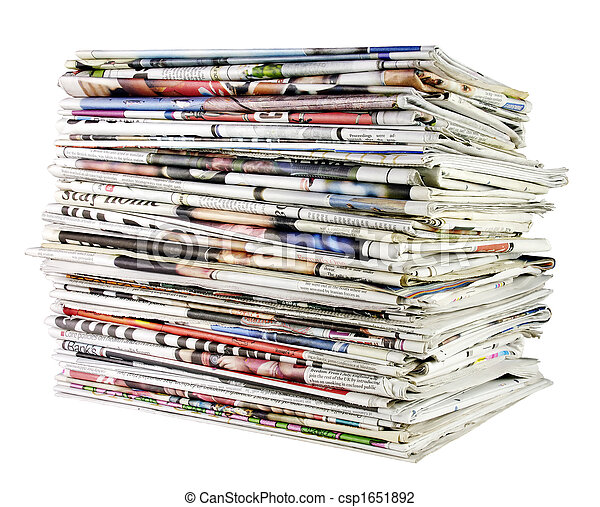stack of newspapers 02 - csp1651892