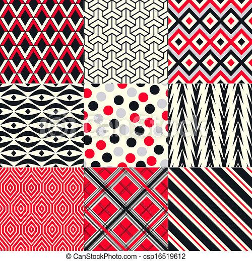 seamless abstract geometric pattern - csp16519612