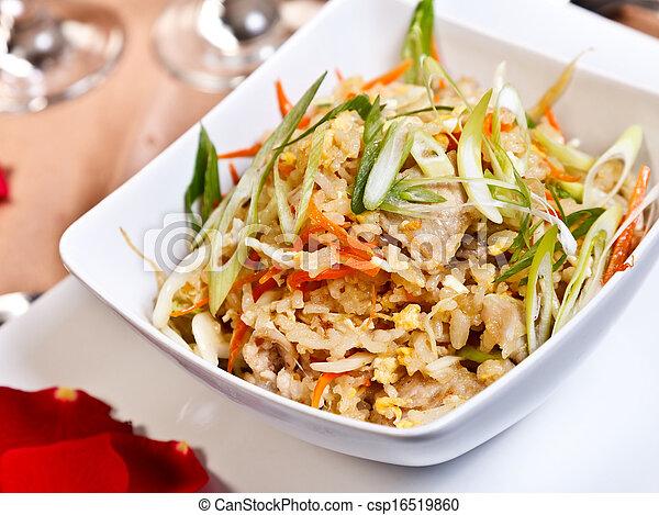 Asian food - Pork fried rice, side order - csp16519860
