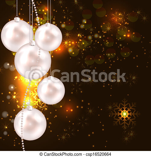 Abstract beauty Christmas and New Year background. vector illustration - csp16520664
