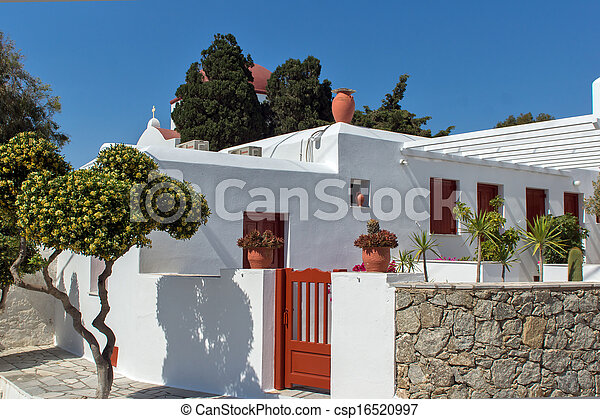 White Church on Mykonos - csp16520997