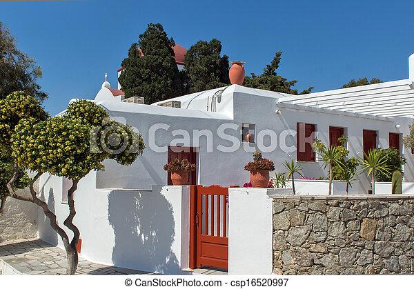 White Church on Mykonos - csp16520997