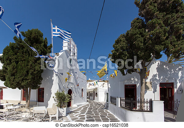 White Church on Mykonos - csp16521038