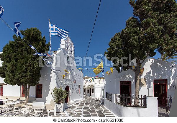 White Church on Mykonos - csp16521038