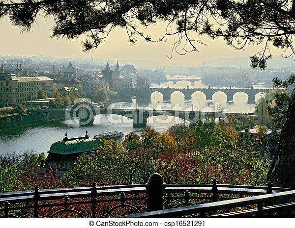 Prague bridges - csp16521291