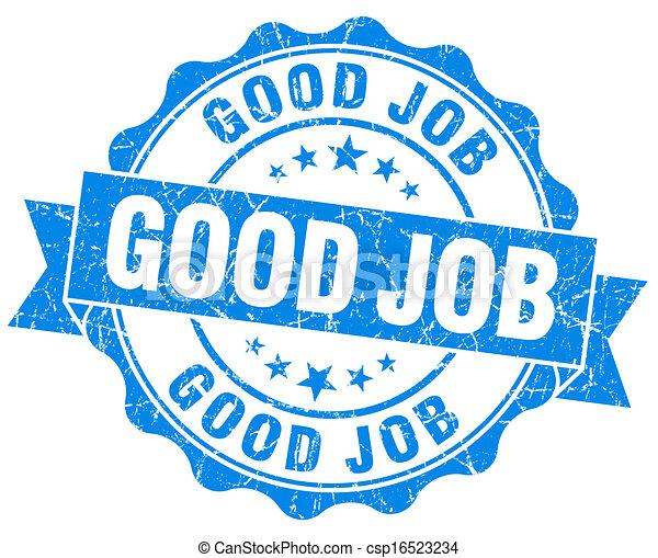Drawings of Good job grunge round blue seal csp16523234 ...