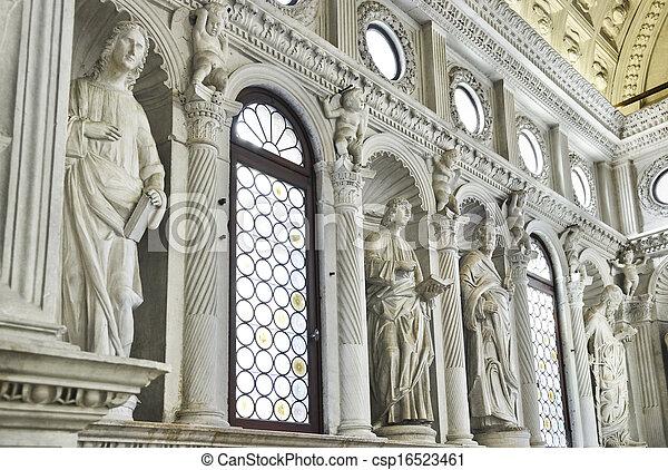Church interior at Trogir in Croatia - csp16523461