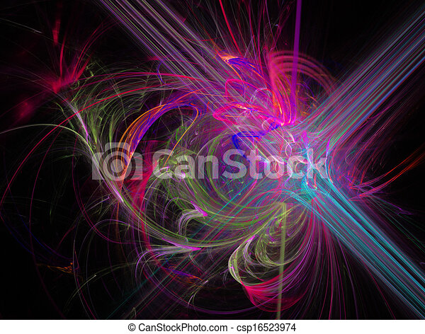 pink fractal abstract illustration fantasy background  - csp16523974