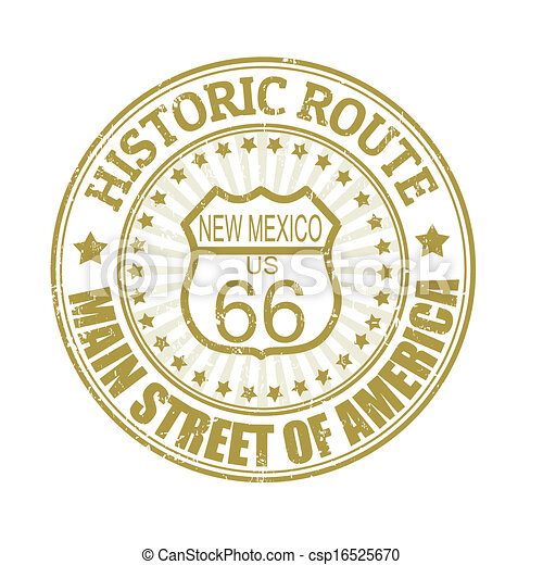 Historic Route 66, New Mexico stamp - csp16525670