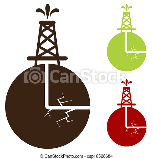 Hydraulic Fracturing Icon - csp16528684