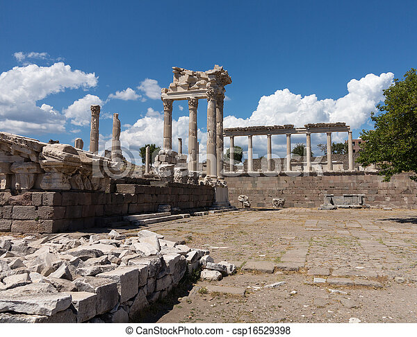 Details of the old ruins at Pergamum - csp16529398