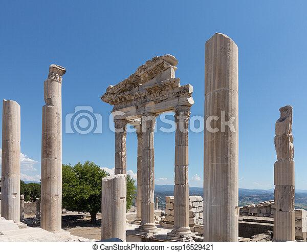 Details of the old ruins at Pergamum - csp16529421