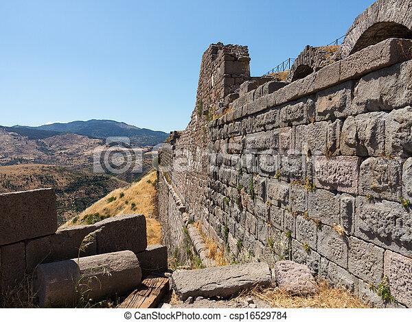 Details of the old ruins at Pergamum - csp16529784