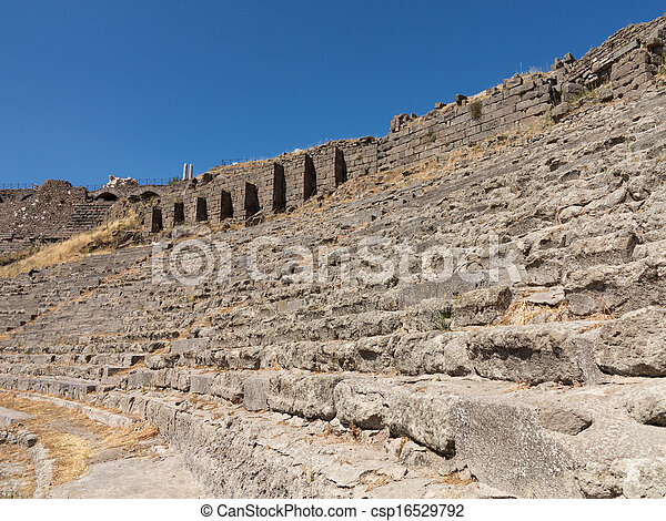 Details of the old ruins at Pergamum - csp16529792