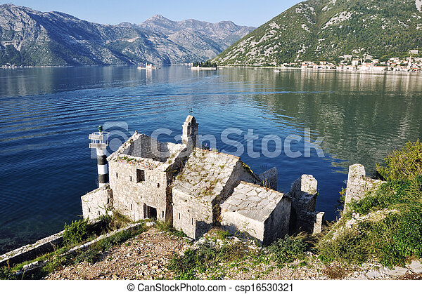 View of old Church, Montenegro - csp16530321