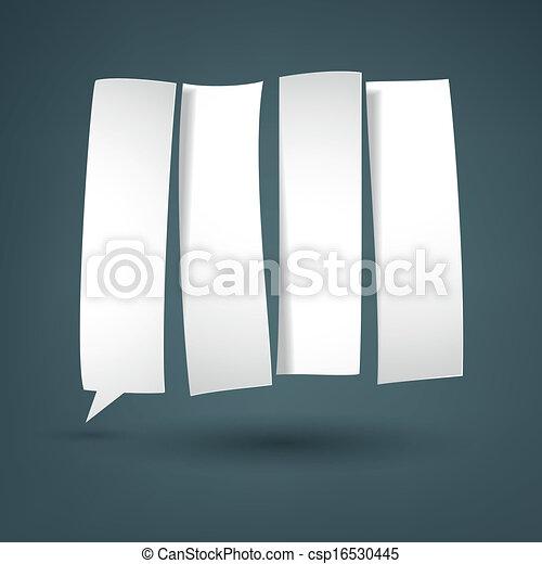 Vecteur Papier Blanc S Par Parole Bulle Banque D